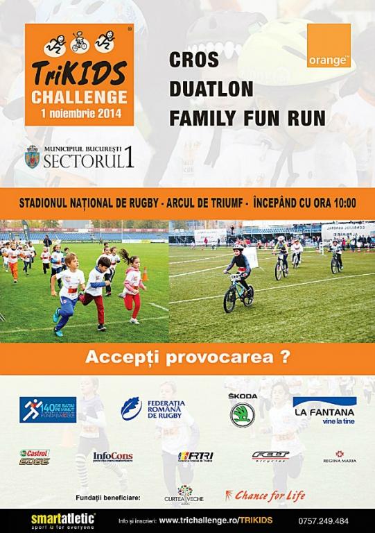 Trikids Bucuresti 2014 Alergare Si Ciclism Pe Stadionul National